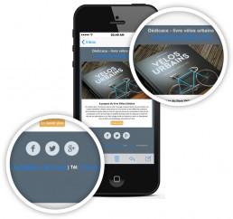 exemple de liens bleu sur un iphone