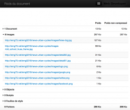 Poids d'un email - Web developper Tool