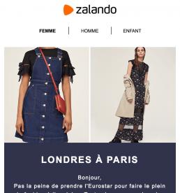 Newsletter Zalando version femme