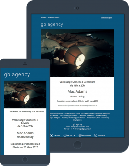 emailing vernissage gb agency