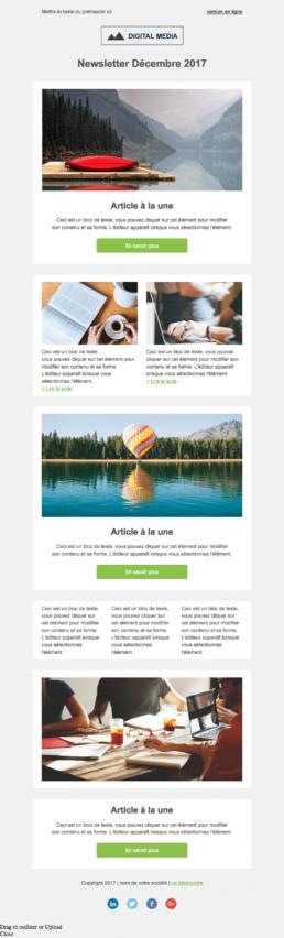 Template newsletter Plezi