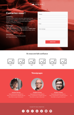 Template Landing Page Contact