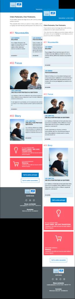 Newsletter Mailchimp Essilor Suisse